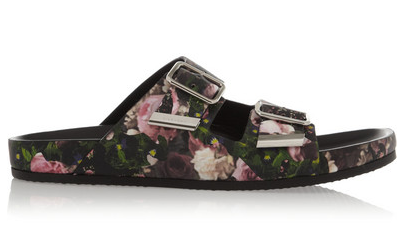 Givenchy Floral-Print Nappa Leather Sandals $795
