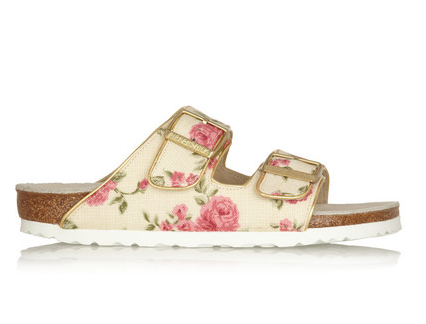 Birkenstock Arizona Floral-Print Canvas Slides $245