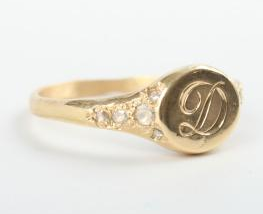 Elisa Solomon Viola's Treasure Signet Ring $1260