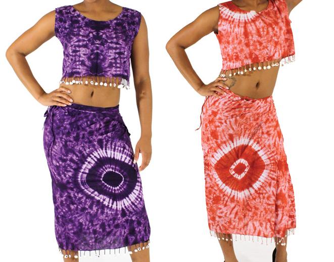 Africa Imports Gambian Tie-Die Skirt Set $19.95 Each