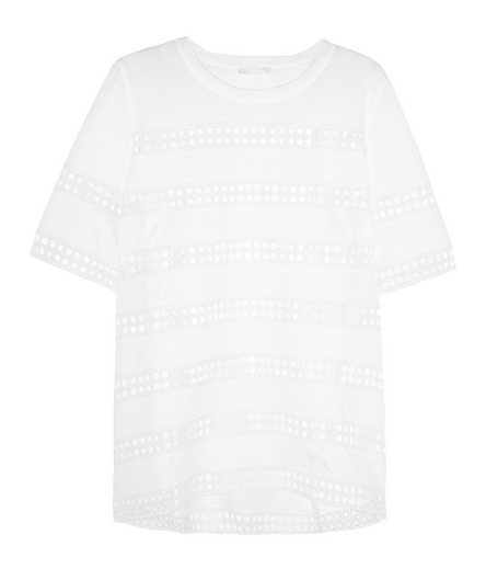 Chloe' Crochet-Paneled Cotton Top $695