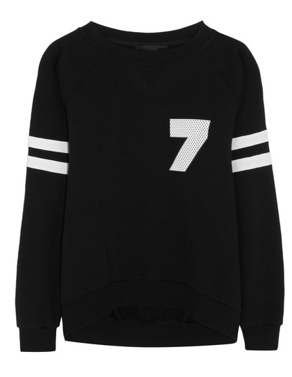 Karl Lagerfeld Rachel Cotton-Jersey Sweater $215