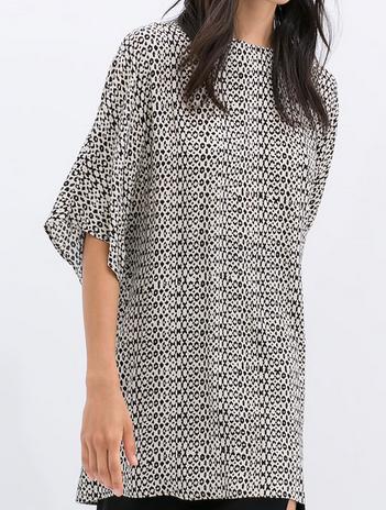 Zara Printed Tunic $79.90