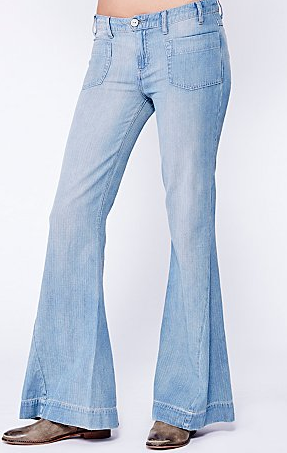 Free People Chambray High Rise Wideleg $128