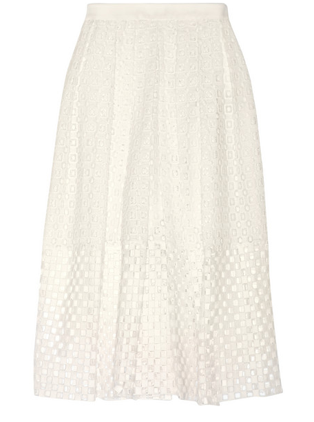 TIBI Sonoran Eyelet-Cotton Skirt $400