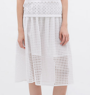 Zara Cut Work Skirt $79.90