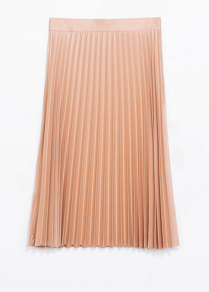 Zara Coated Pleated Skirt $79.90