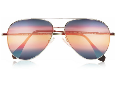 Cutler and Gross Aviator Metal Mirrored Sunglasses $500