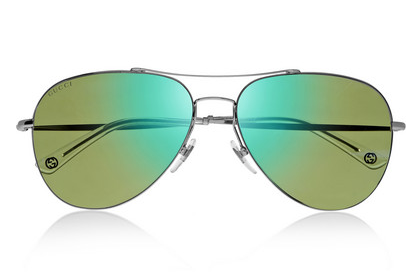 Gucci Aviator Metal Sunglasses $325