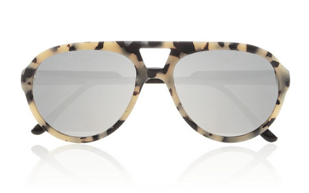 Stella McCartney Aviator-Style Acetate Mirrored Sunglasses $250