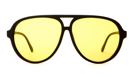 The Nite Shift - Flat Black w/ Yellow Tint CR-39 Lenses $56