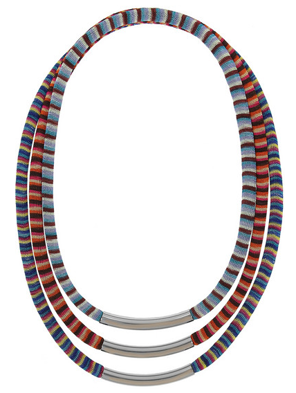 Missoni + V&A Set of Three Palladium-Plated Woven Necklaces $445