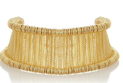 Alexander McQueen Gold-Tone Bar Choker $2685