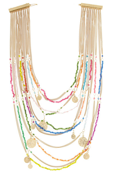 Rosantica La Forza Gold-Dipped Agate Necklace $660