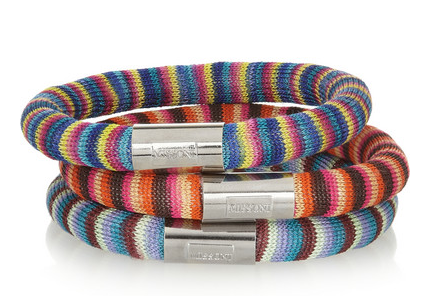 Missoni + V&A Set of Three Palladium-Plated Woven Bracelets $280