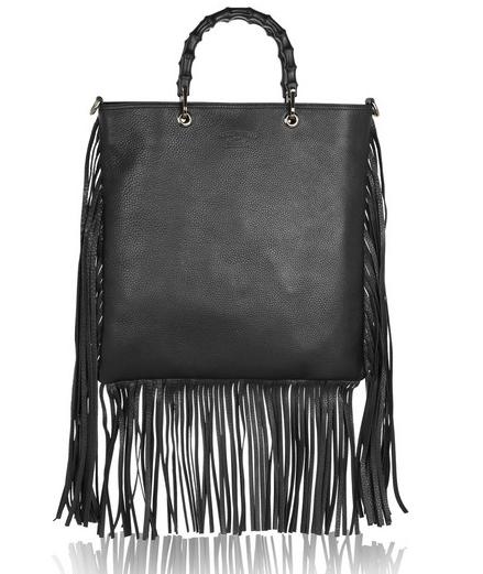 Gucci Fringed Textured-Leather Tote $2500