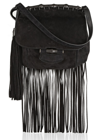 Gucci Fringed Suede Shoulder Bag $2500