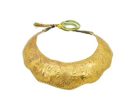 Vintage Brass Tin Tribal Choker Necklace $99