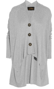 VIVIENNE WESTWOOD ANGLOMANIA Voyage draped ribbed-knit cardigan $620