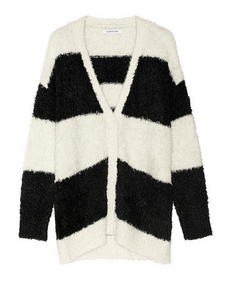 ELIZABETH AND JAMES Striped knitted cardigan $395