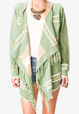 Forever 21 Out West Fringed Cardigan $24.80