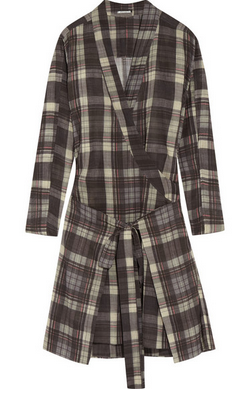 ÉTOILE ISABEL MARANT Vanessa checked cotton dress $585
