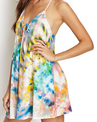 Forever 21 Watercolor Cami Dress $17.80