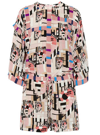 SEE BY CHLOÉ Geometric-print silk playsuit $730