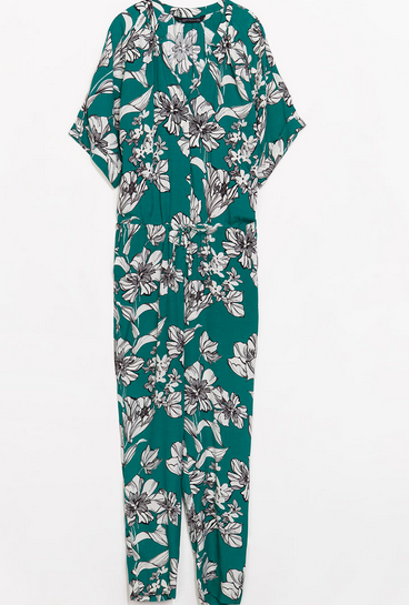 Zara Long Printed Jumpsuit $99.90