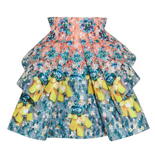 MARY KATRANTZOU Structured printed satin-gabardine skirt $6,200