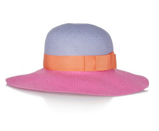 LANVIN Color-block straw hat $495