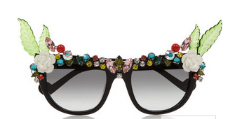 ANNA-KARIN KARLSSON Tropical Swarovski crystal-embellished D-frame acetate sunglasses $1,010