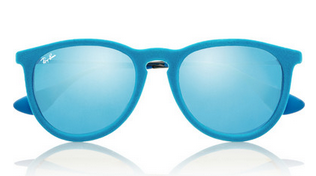 RAY-BAN Erika round-frame velvet mirrored sunglasses $135