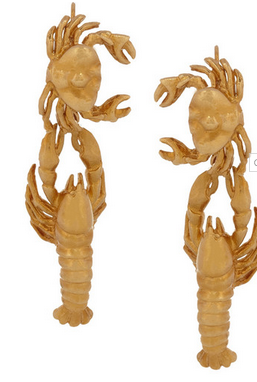 VIRZI+DE LUCA Gold-plated lobster earrings $230