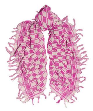 ÉTOILE ISABEL MARANT Tasma checked silk-bourette scarf $190