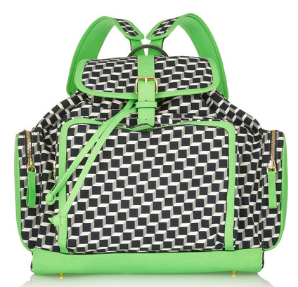 PIERRE HARDY Neon leather-trimmed printed cotton-canvas backpack $1,595