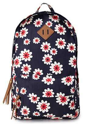 Forever 21 Sweet Floral Canvas Backpack $24.80