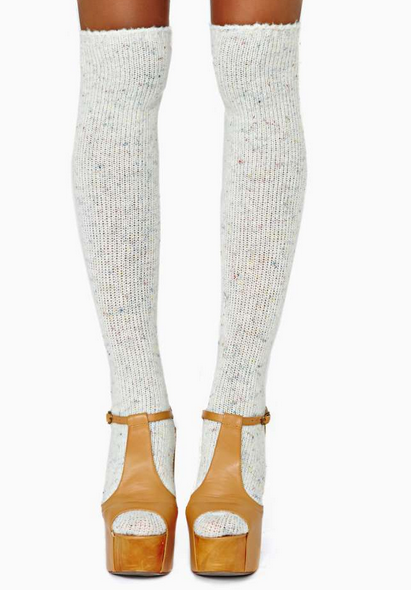 Funfetti Knee High Socks $18.00