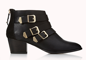 Forever 21 Must-Have Buckled Booties $39.80