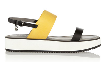 KARL LAGERFELD Color-block Matte-Leather Sandals $315