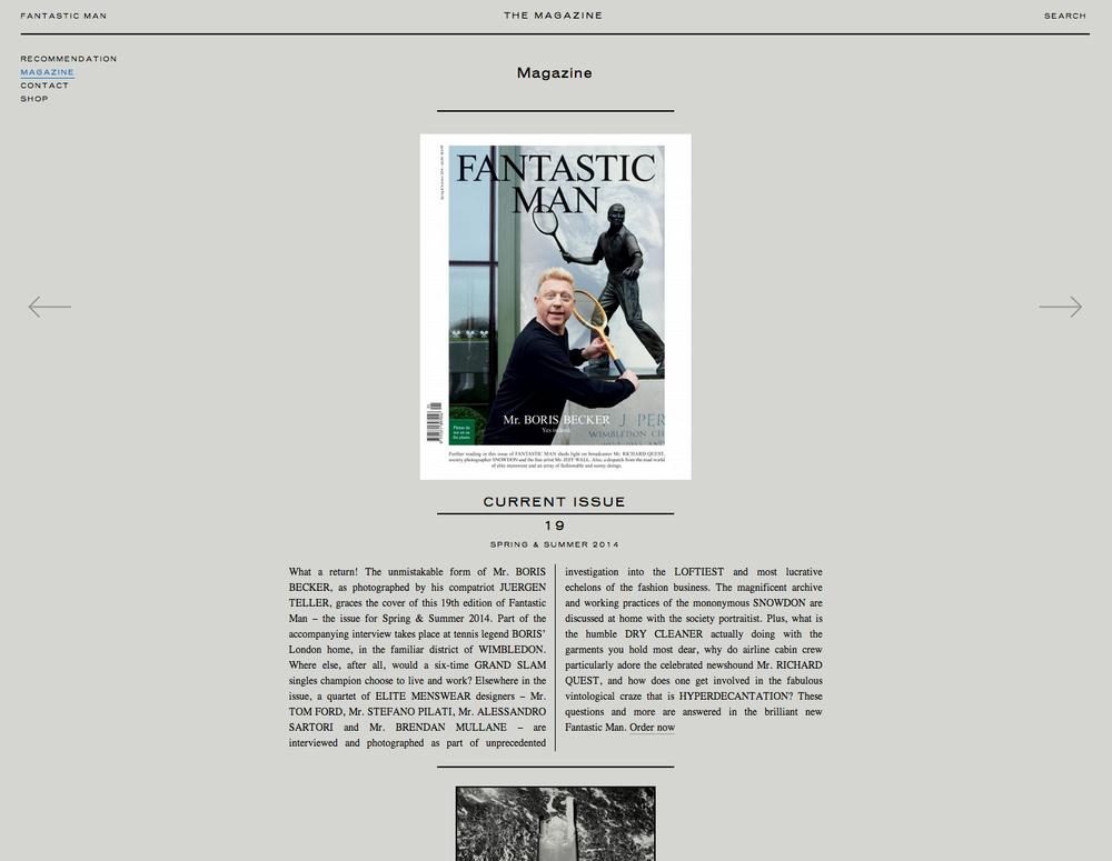 FANTASTIC MAN magazine