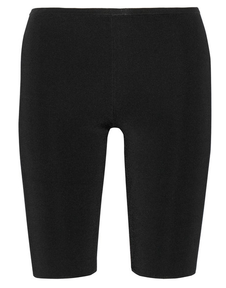 NEIL BARRETT Stretch-Knit Leggings-Style Shorts $295