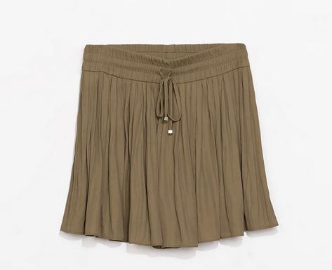 Zara Flowy Drawstring Shorts $59.90