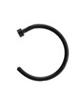 316L Surgical Steel Black Open Nose Ring $7.99