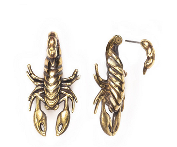 Pamela Love 2 Part Scorpion Earring in Brass $225