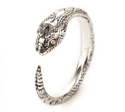 Pamela Love Serpent Ring with Champagne Diamond $275