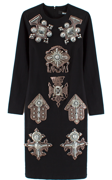 KTZ Berbere Jewel Patch Body con Dress $890