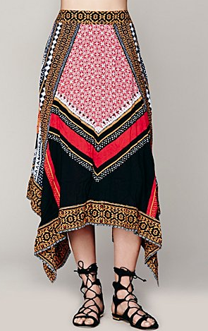 Free People Bedouin Traveler Skirt $128