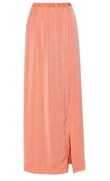 Malene Birger Crepe de Chine Maxi Skirt $225
