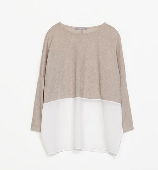 Zara Combined Knit T Shirt $19.99